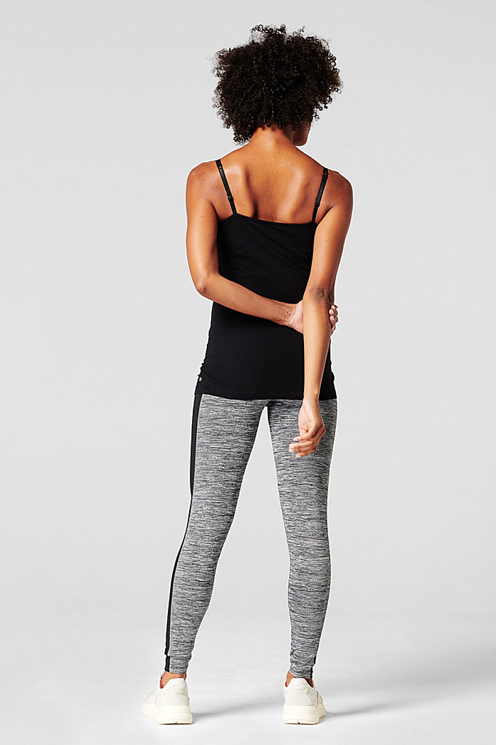 Active leggings with over-bump waistband, GUNMETAL, detail image number 2