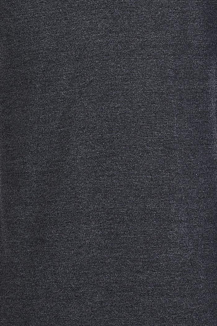 Long sleeve top, suitable for breastfeeding, ANTHRACITE MELANGE, detail image number 3