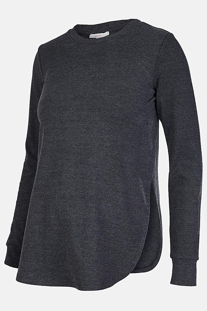 Long sleeve top, suitable for breastfeeding, ANTHRACITE MELANGE, detail image number 4