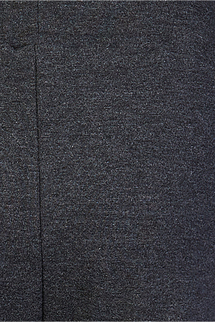 Comfortable jersey trousers with a melange finish, ANTHRACITE MELANGE, detail image number 2