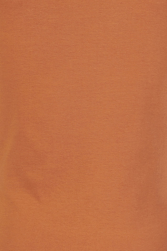 Stretch cotton T-shirt, RUST, detail image number 3
