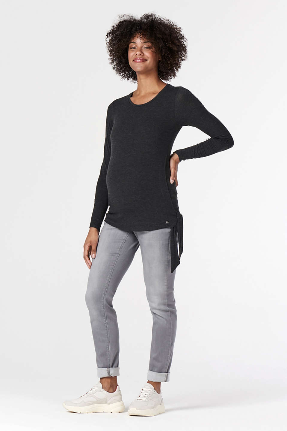 Esprit - Melange long sleeve nursing top