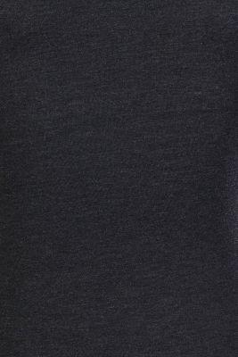 Melange long sleeve nursing top, GUNMETAL, detail