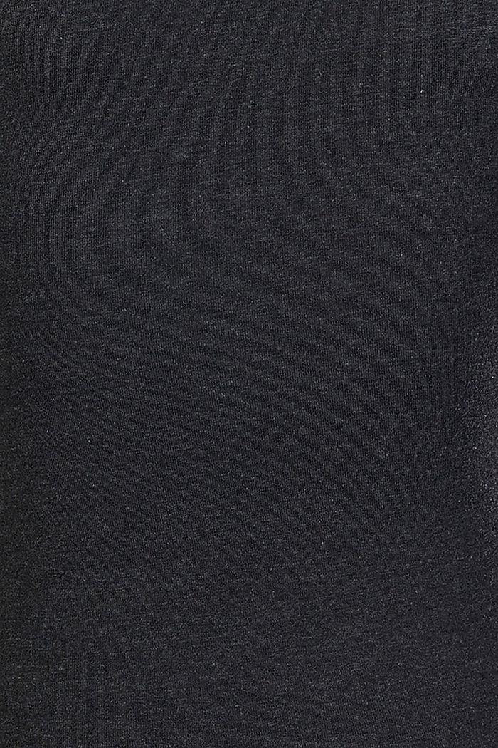 Melange long sleeve nursing top, GUNMETAL, detail image number 4