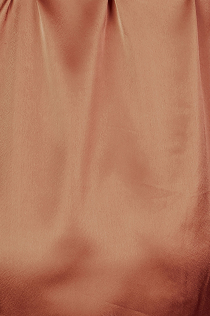 Nursing-friendly satin blouse, RUST, detail image number 3