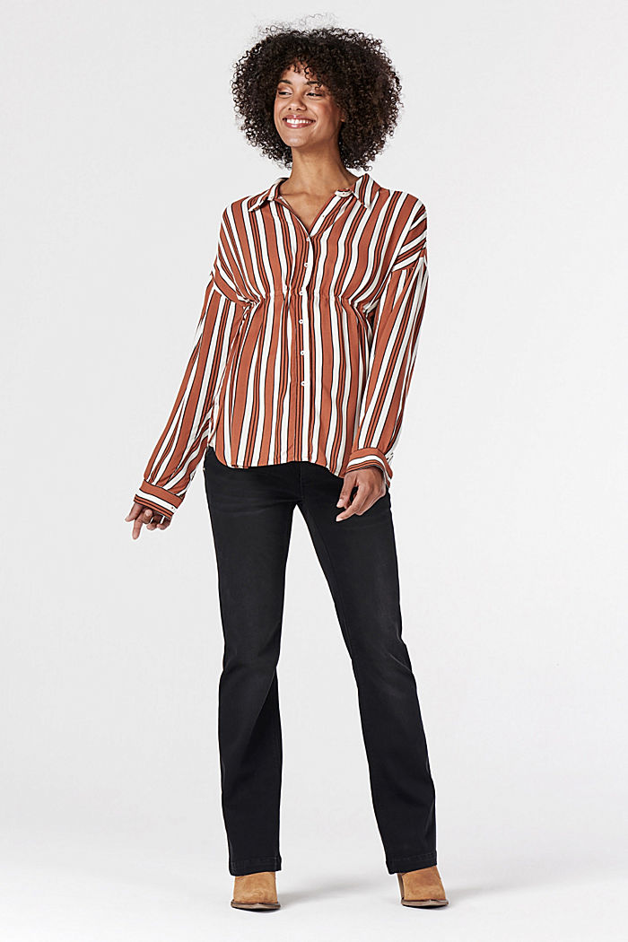 Nursing-friendly blouse with adjustable waist width, RUST, detail image number 1