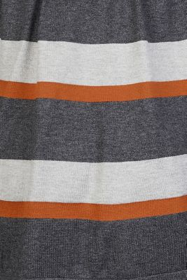 Striped cardigan with belt, RUST, detail
