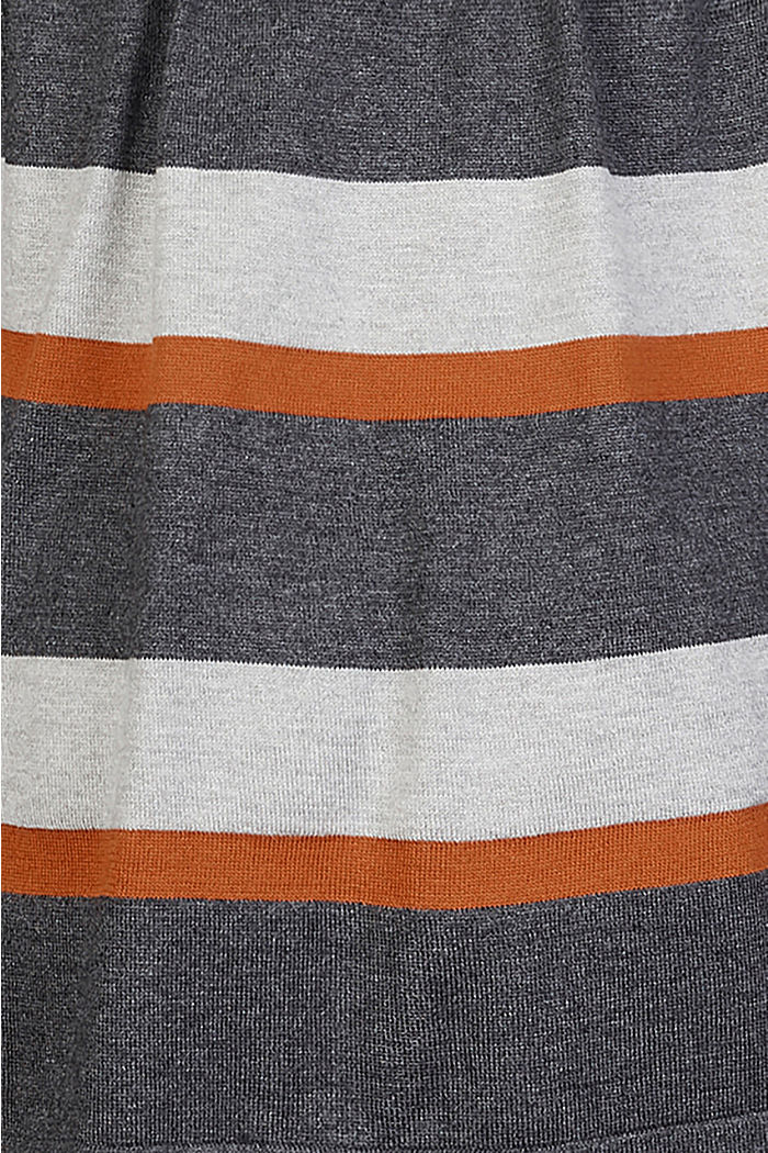 Striped cardigan with belt, RUST, detail image number 3
