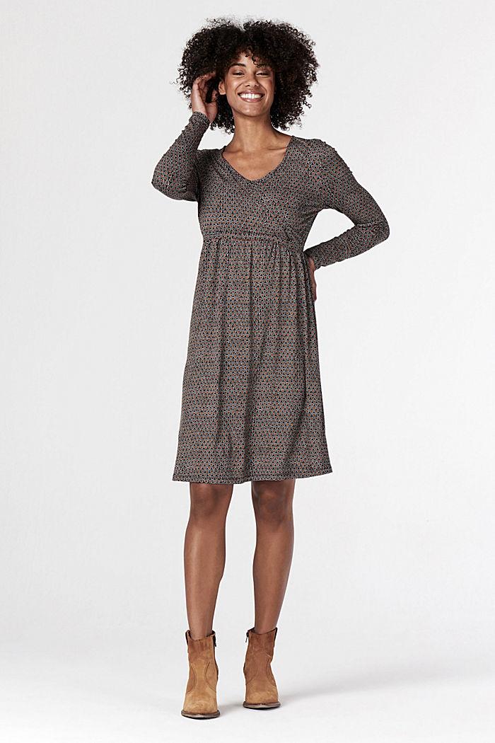 Jersey nursing dress, GUNMETAL, detail image number 5