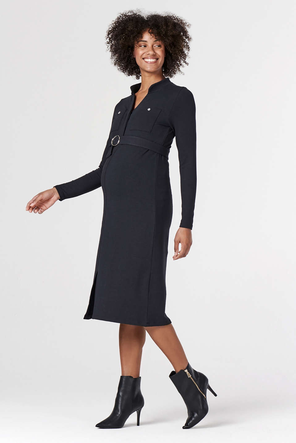 Esprit - Jersey dress with organic cotton and a nursing function