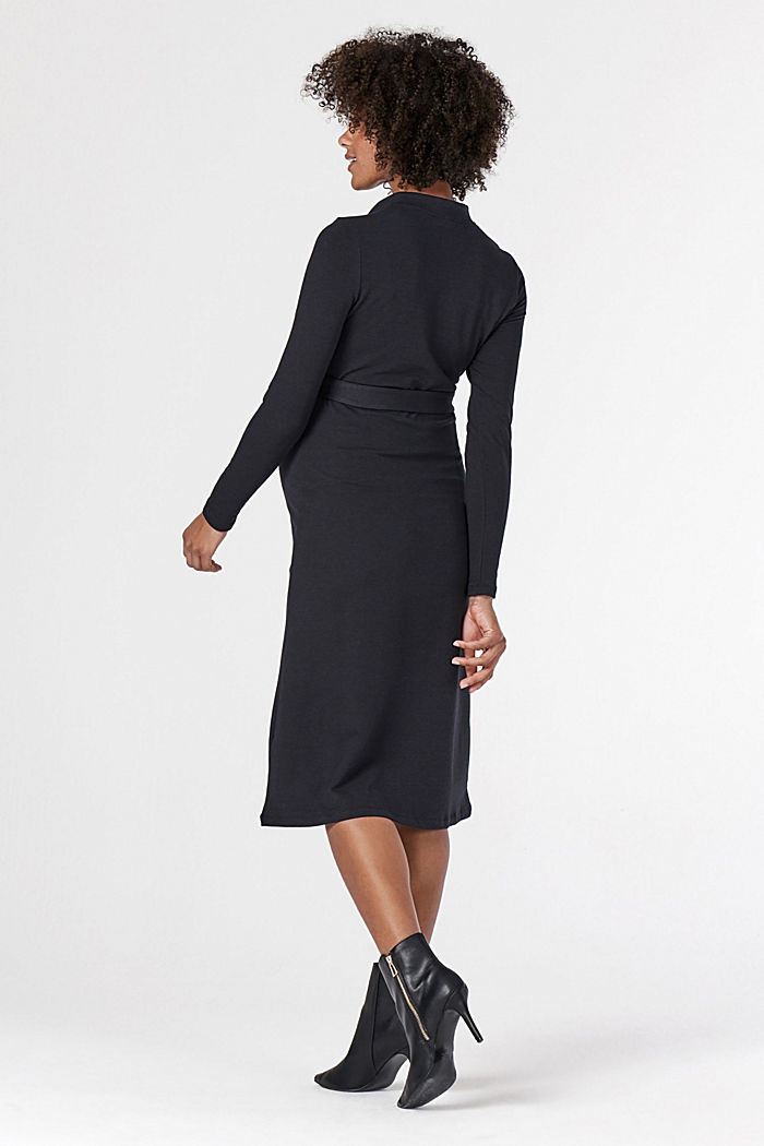 Jersey dress with organic cotton and a nursing function, GUNMETAL, detail image number 2
