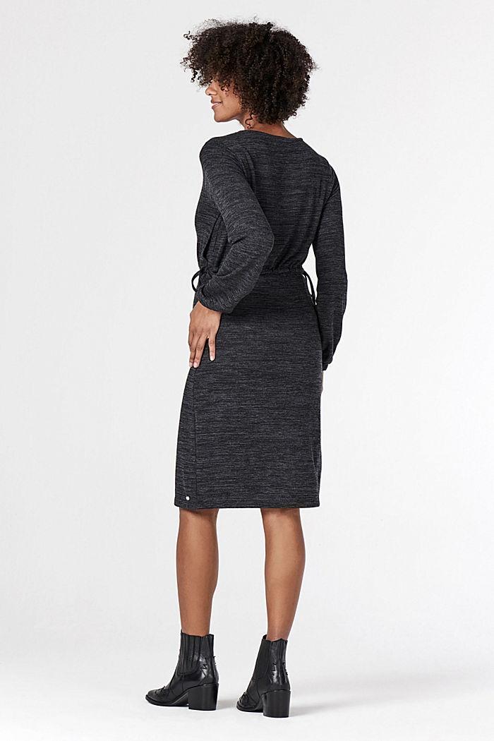 Meliertes Jersey-Kleid mit Stillfunktion, GUNMETAL, detail image number 2