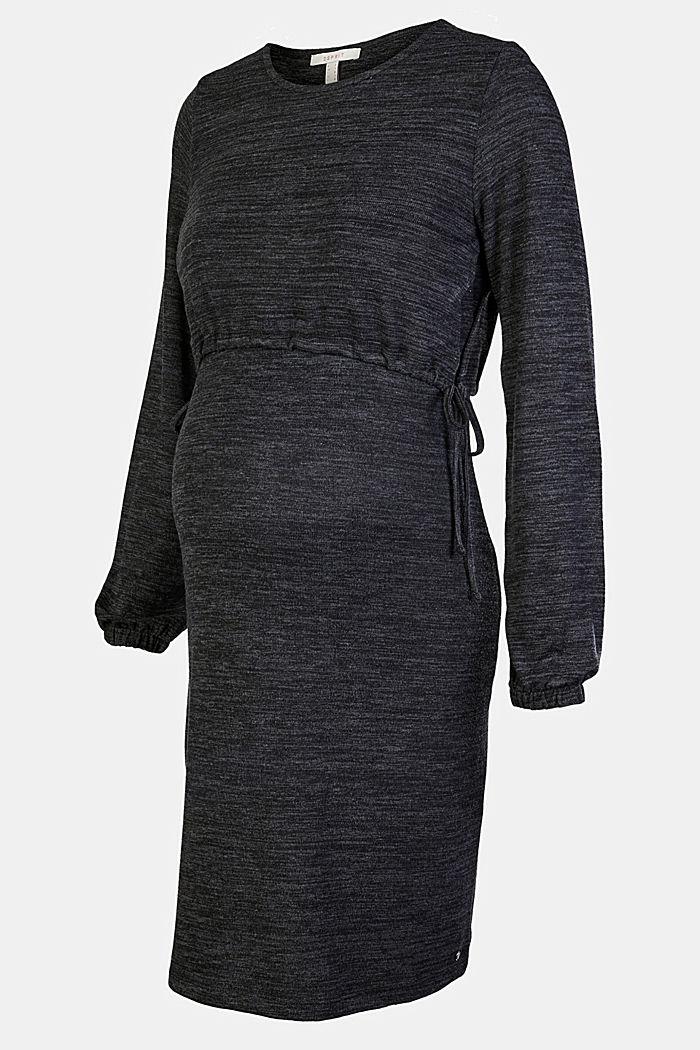 Meliertes Jersey-Kleid mit Stillfunktion