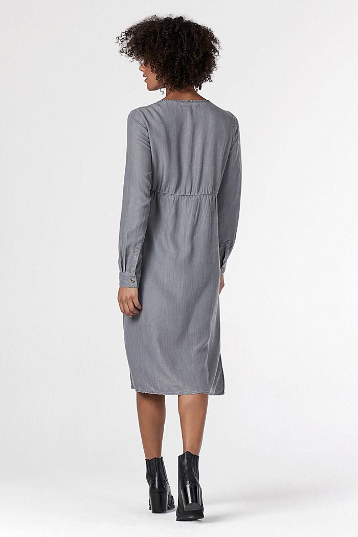Stillfreundliches Blusenkleid aus Lyocell, GREY DENIM, detail image number 2