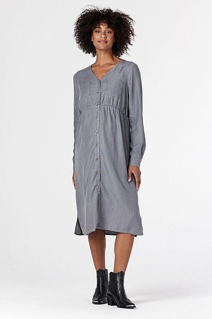 Stillfreundliches Blusenkleid aus Lyocell, GREY DENIM, detail image number 1