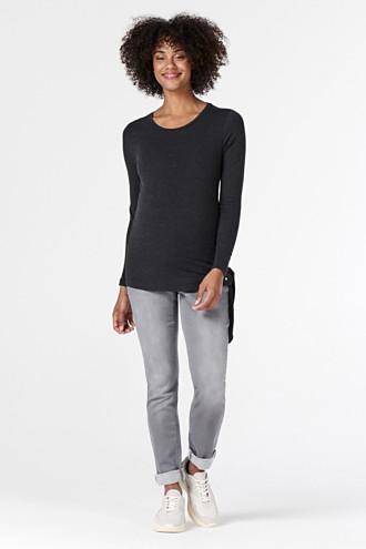 Soft jeans with an over-bump waistband