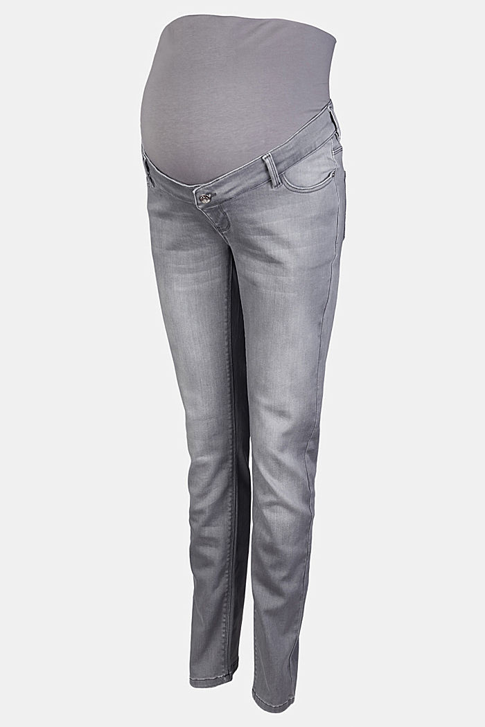 Soft jeans with an over-bump waistband, GREY DENIM, detail image number 4