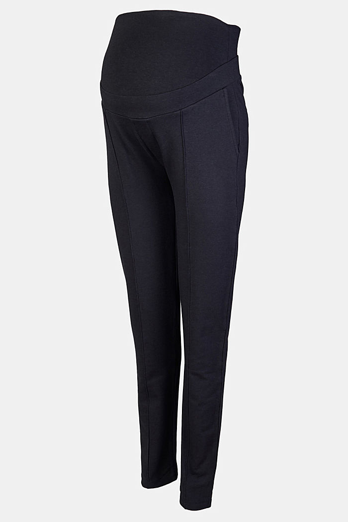 Jersey cargo trousers with over-bump waistband, GUNMETAL, detail image number 5