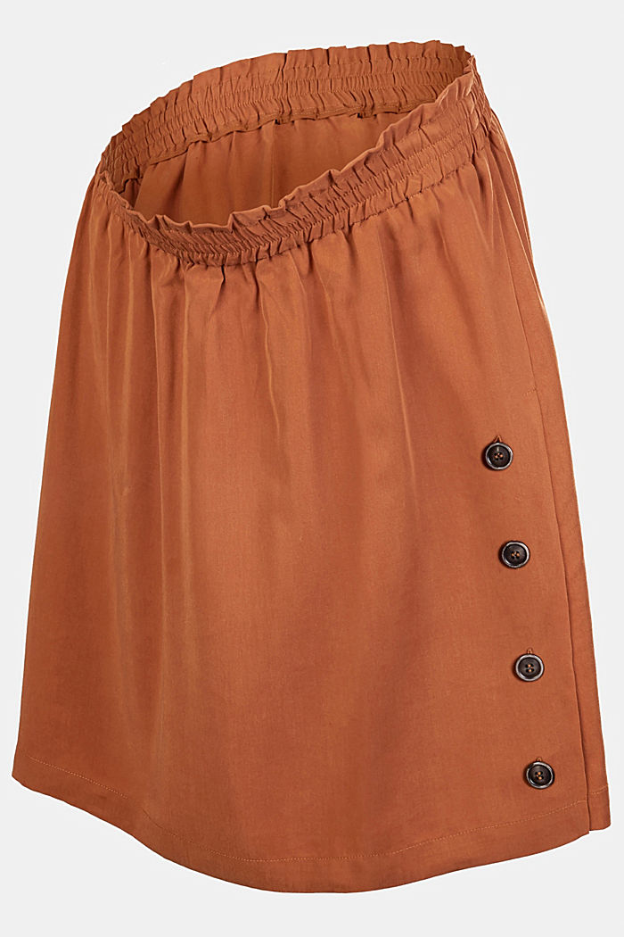 Lyocell skirt with a comfy waistband, RUST, detail image number 4