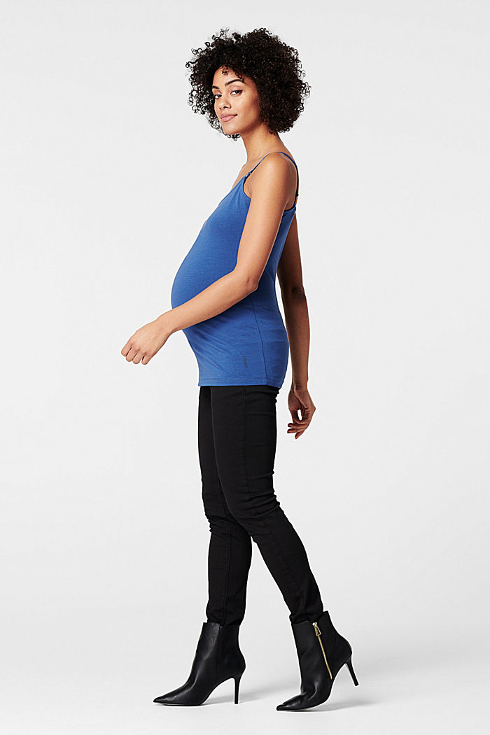 Stretchy nursing top, CINDER BLUE, detail image number 2