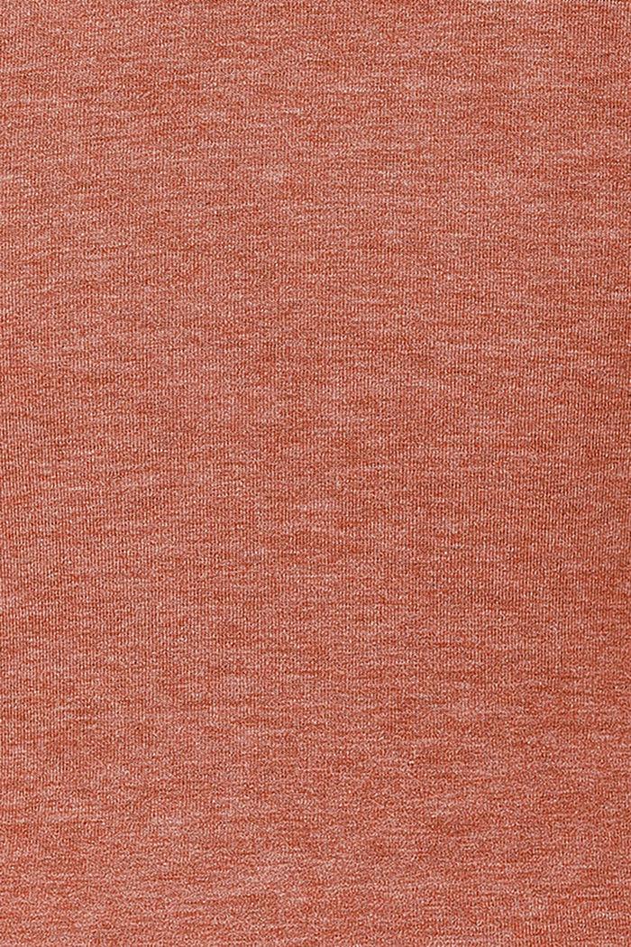 Layered long sleeve nursing top, TOFFEE BROWN, detail image number 4