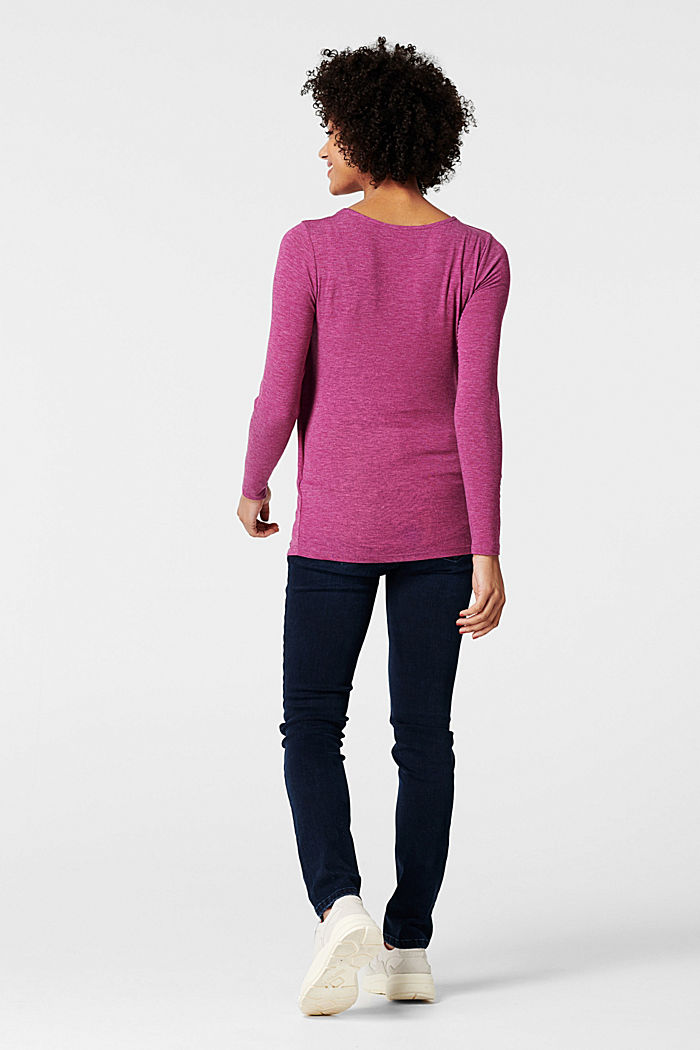 Layer-Longsleeve mit Stillfunktion, CREAMY BERRY, detail image number 3