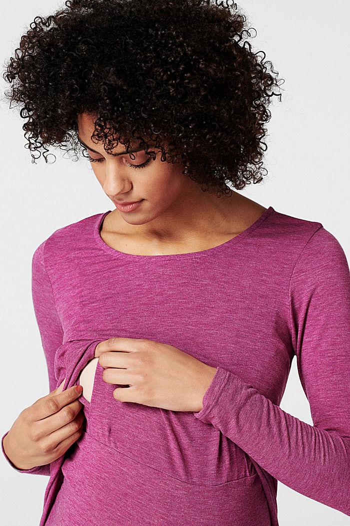 Layer-Longsleeve mit Stillfunktion, CREAMY BERRY, detail image number 2