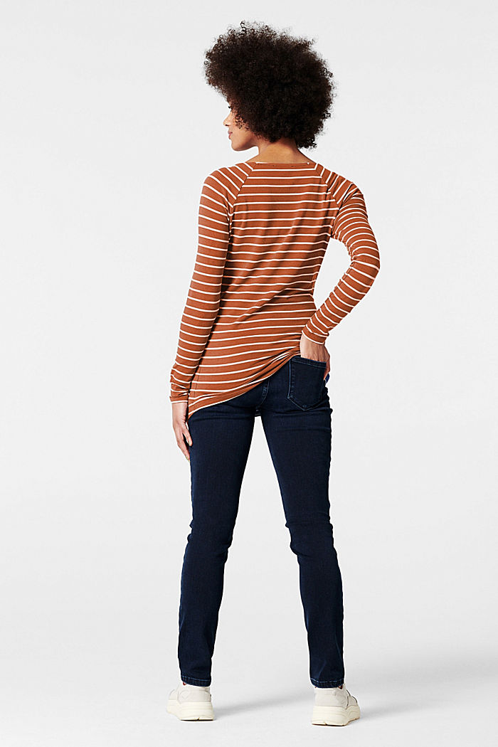 Long sleeve nursing top, TOFFEE BROWN, detail image number 1