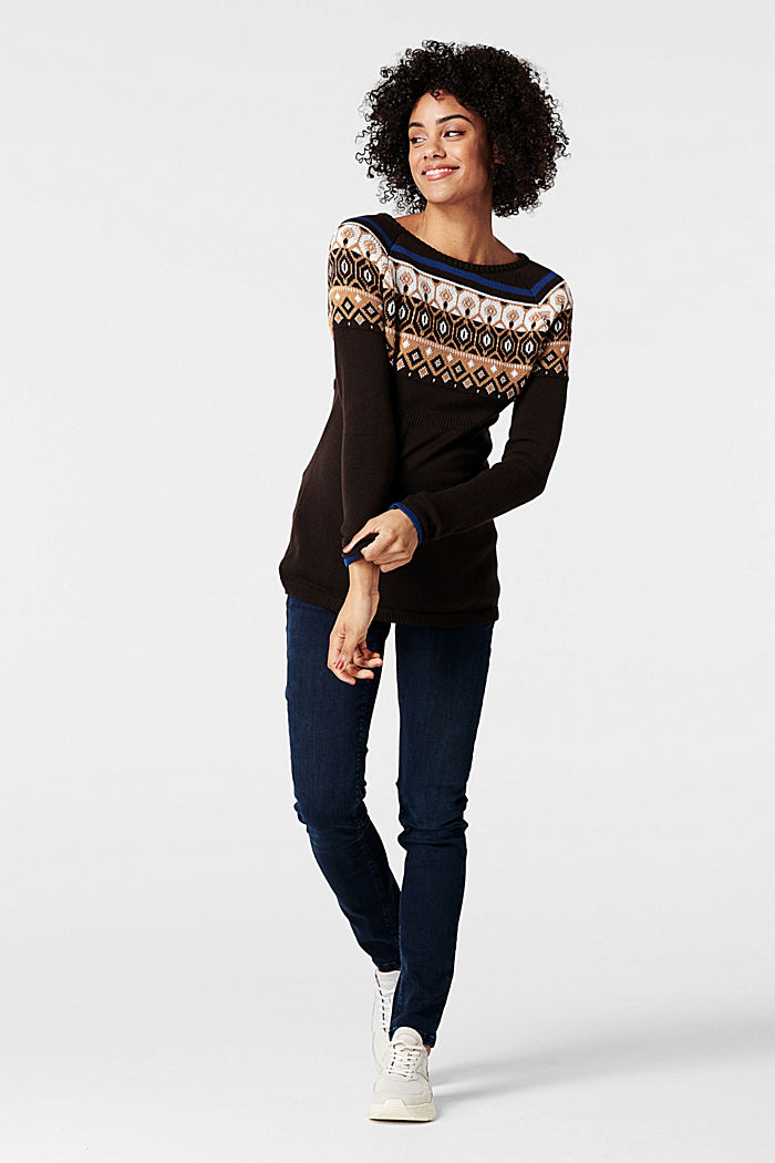 Jacquard jumper with a Fair Isle design