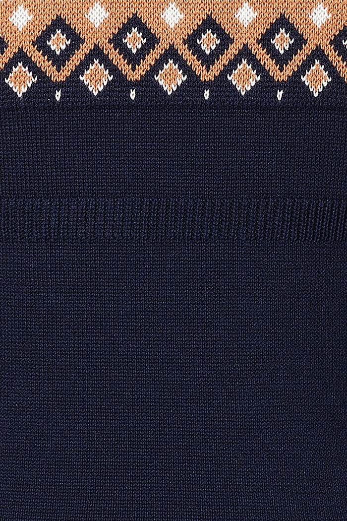 Jacquard jumper with a Fair Isle design, NIGHT SKY BLUE, detail image number 3