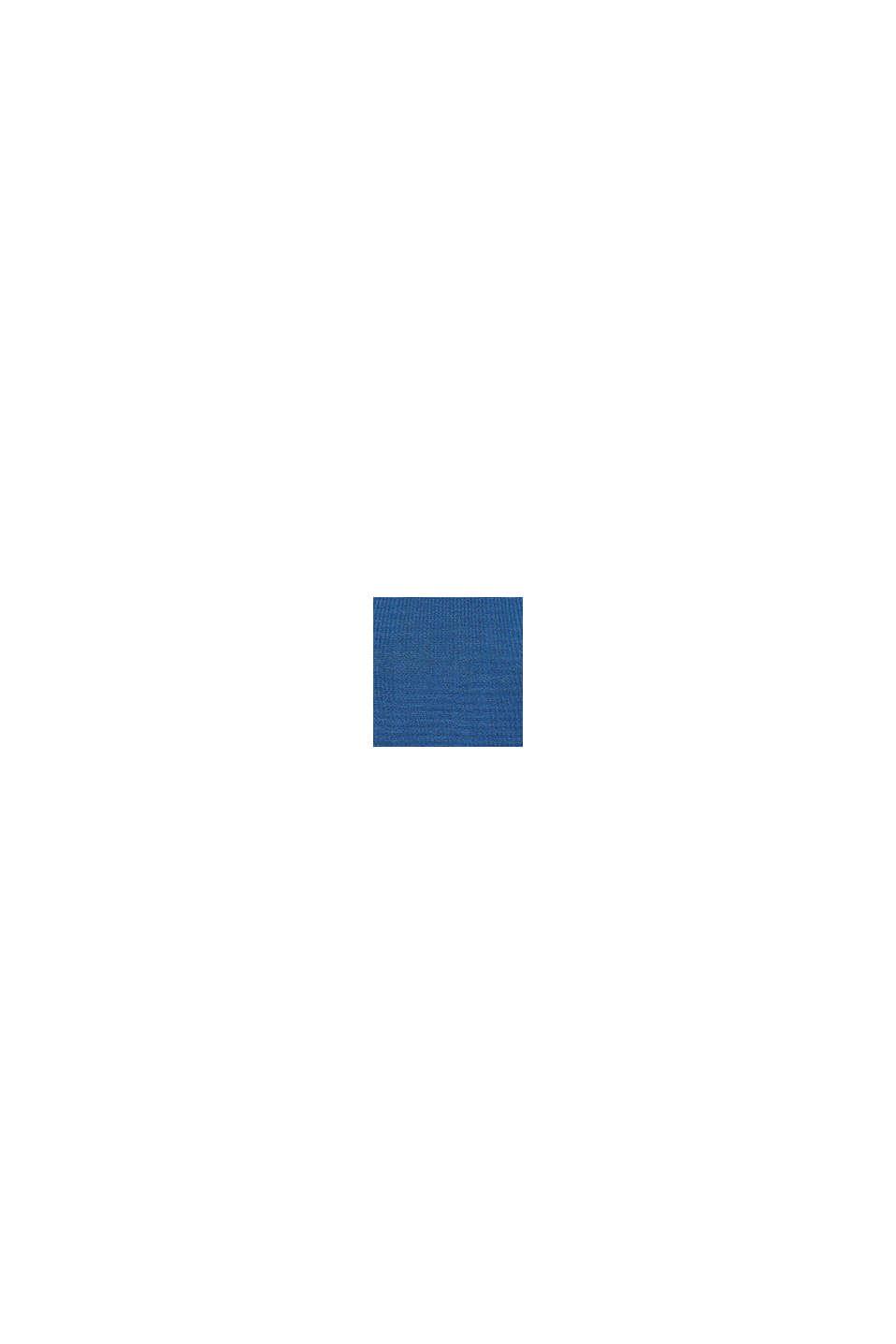Fin strikbluse med pynteknapper, CINDER BLUE, swatch
