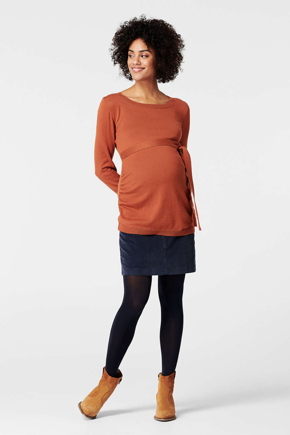 Esprit - Fine knit jumper with a belt