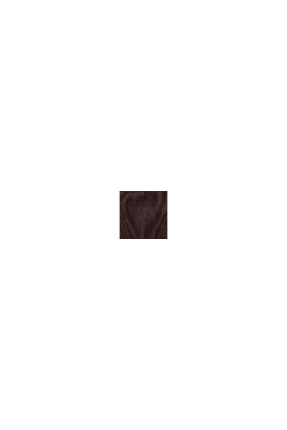 Vestido de punto con falda plisada, COFFEE, swatch