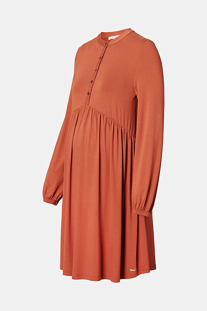 Flowing jersey dress with a nursing function