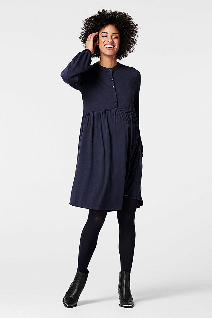 Fließendes Jersey-Kleid mit Stillfunktion