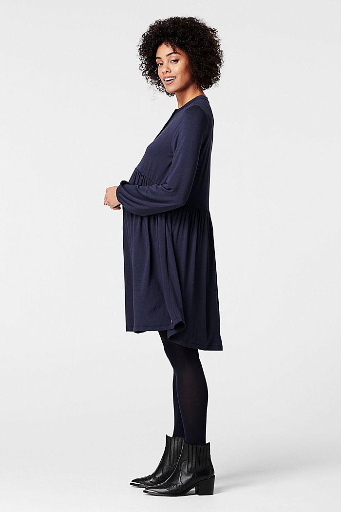 Fließendes Jersey-Kleid mit Stillfunktion, NIGHT SKY BLUE, detail image number 1