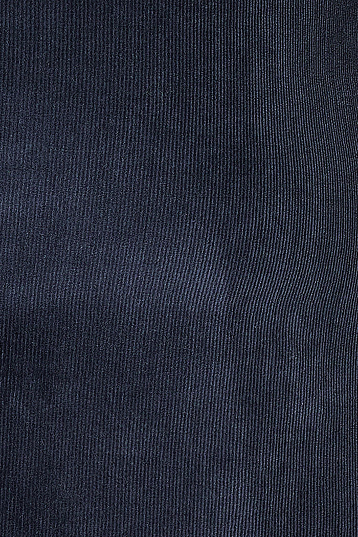 Corduroy skirt with an under-bump waistband, NIGHT SKY BLUE, detail image number 2