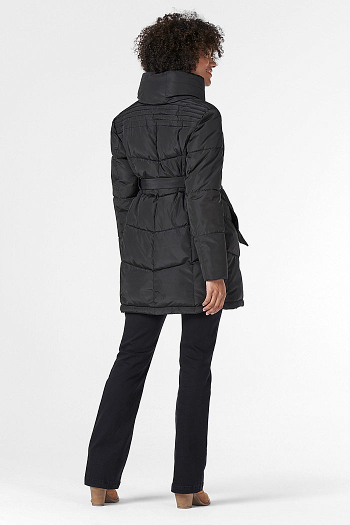 2-way quilted jacket with a concealed hood, GUNMETAL, detail image number 2