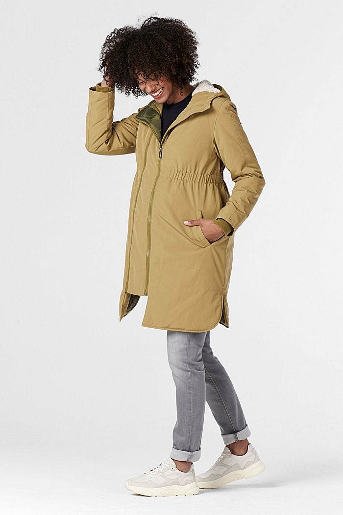 3-Wege-Parka mit Futter in Shearling-Optik, KHAKI GREEN, detail image number 4