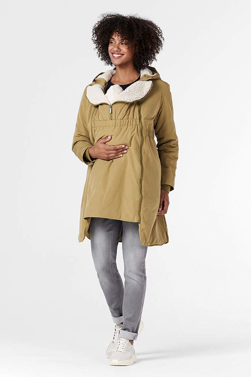 3-way parka with faux shearling lining