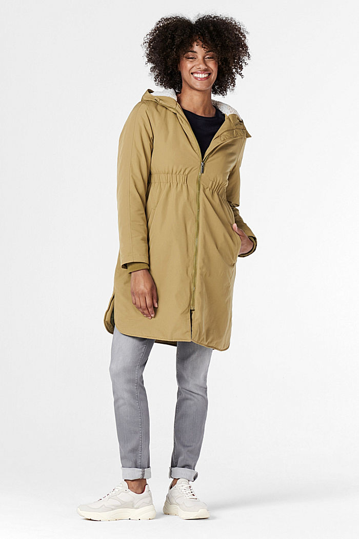 3-Wege-Parka mit Futter in Shearling-Optik, KHAKI GREEN, detail image number 5