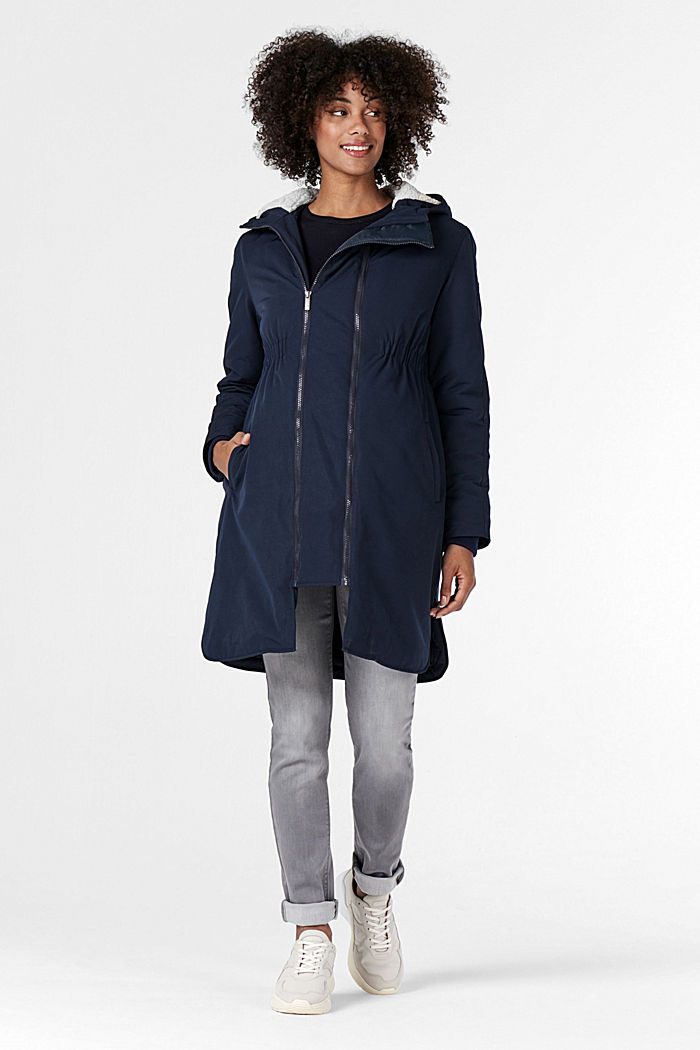 3-way parka with faux shearling lining, NIGHT SKY BLUE, detail image number 0