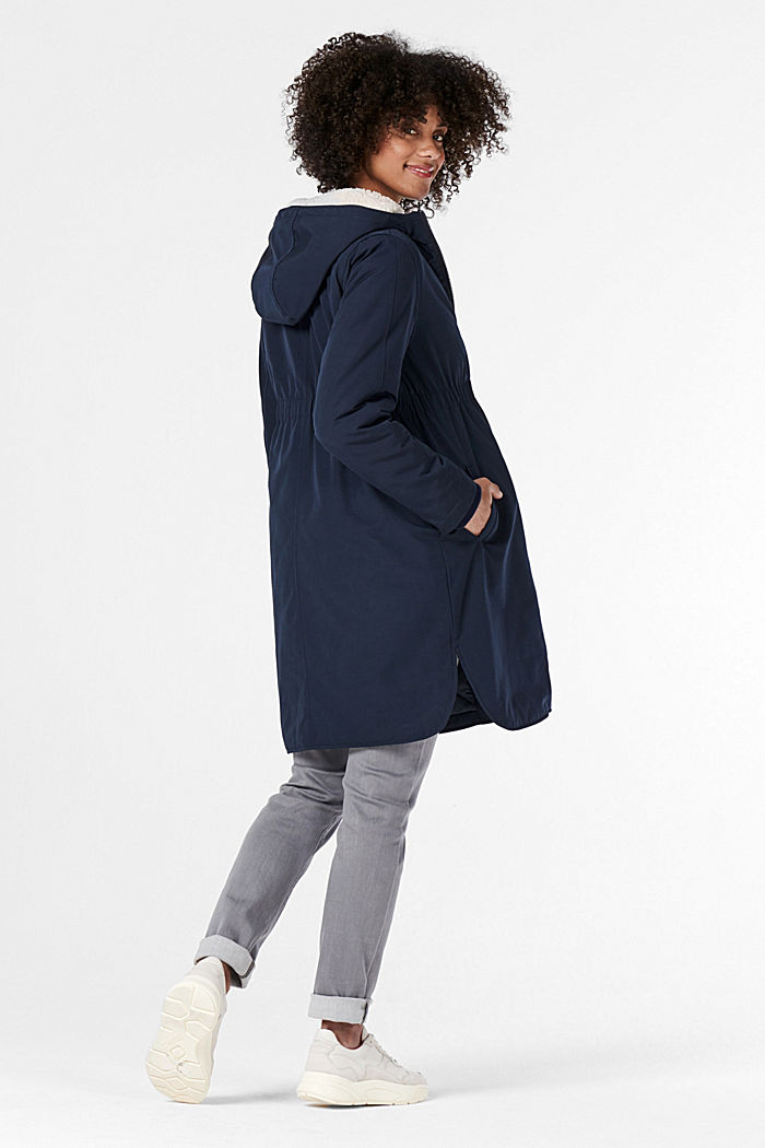 3-way parka with faux shearling lining, NIGHT SKY BLUE, detail image number 2