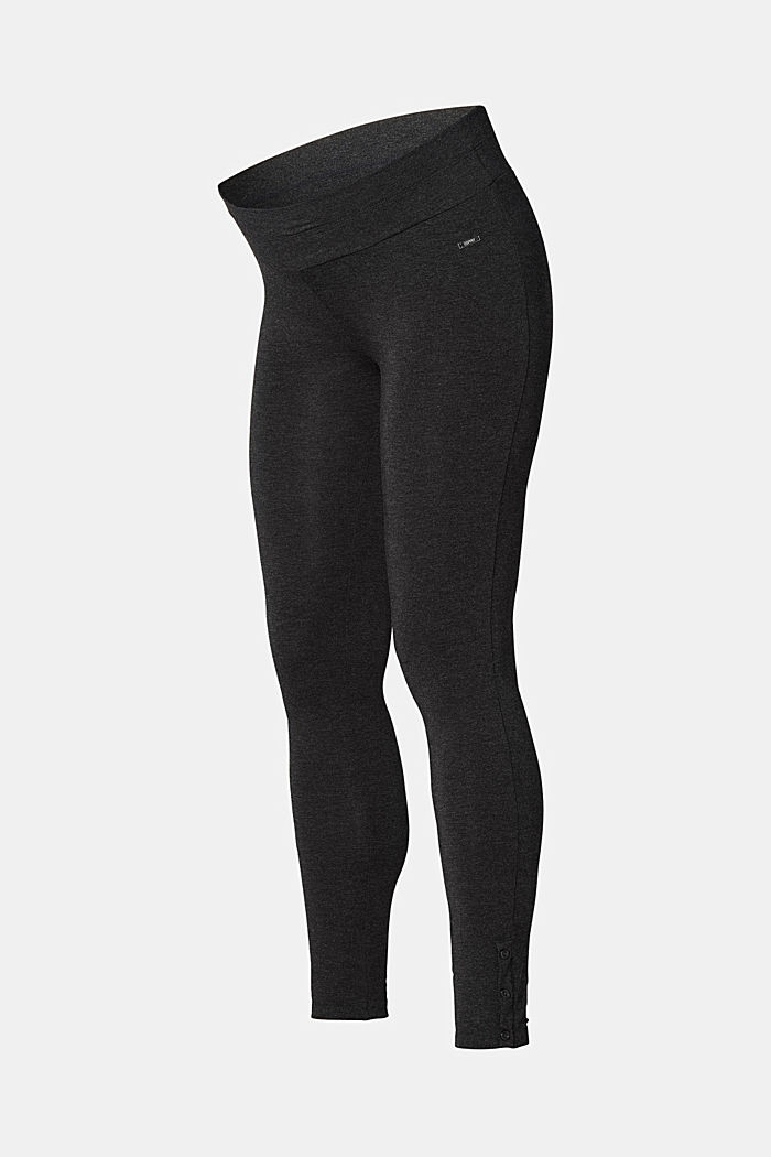 Soft leggings, organic cotton, ANTHRACITE MELANGE, detail image number 2