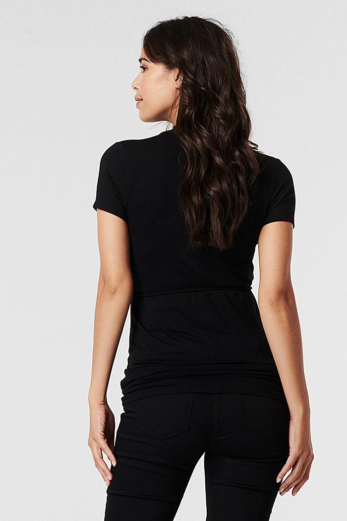 T-shirt med ammefunktion, LENZING™ ECOVERO™, BLACK, detail image number 3