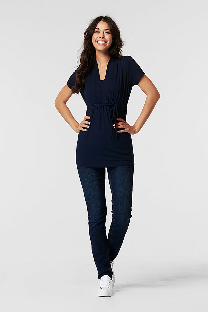 T-Shirt mit Stillfunktion, LENZING™ ECOVERO™, NIGHT BLUE, detail image number 1