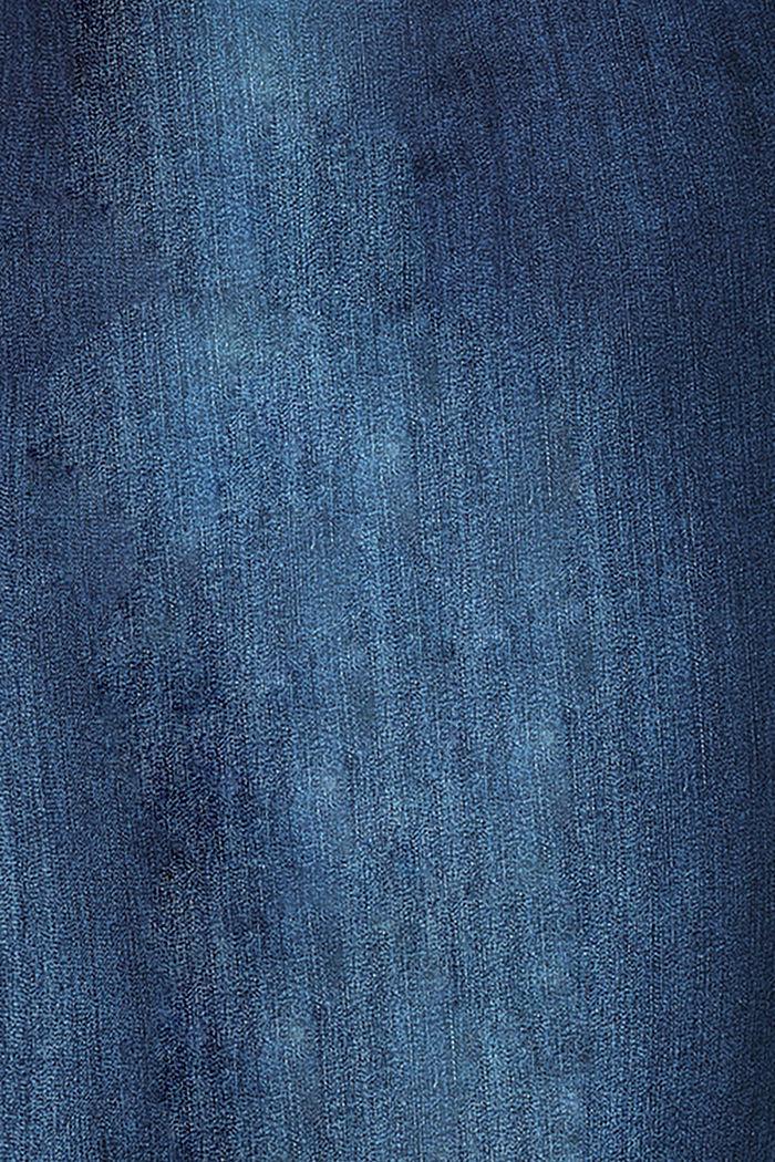 Jegging met stretch en band onder de buik, BLUE DARK WASHED, detail image number 3