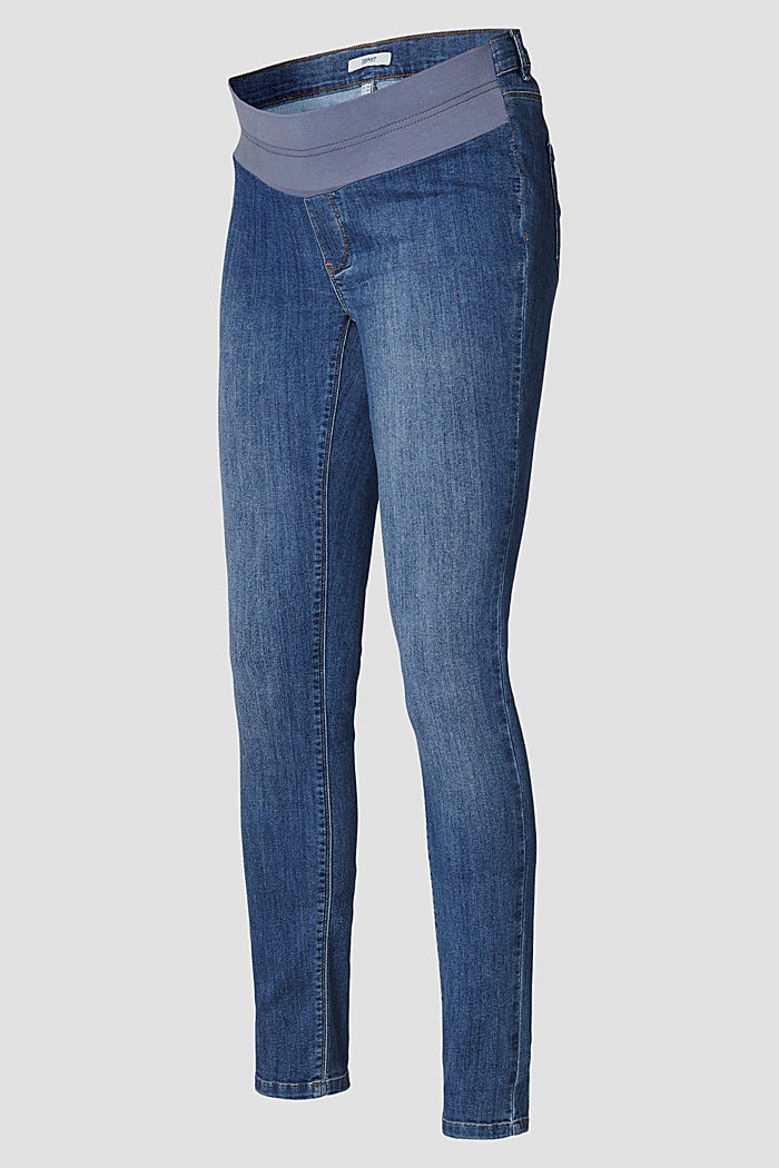 Stretch jeggings with an under-bump waistband, MEDIUM WASHED, detail image number 5