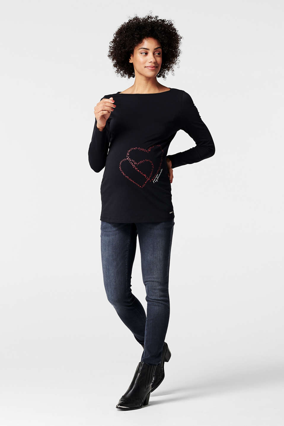 Esprit - Long sleeve top with a heart print