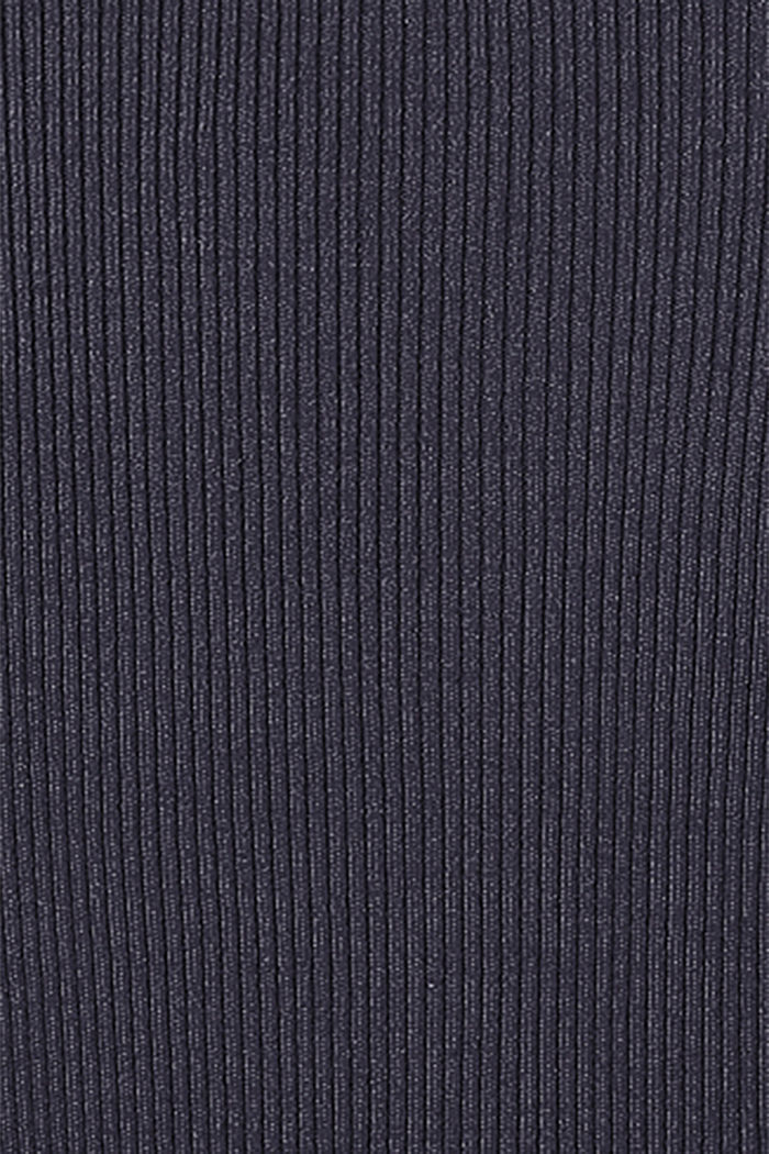 Knit dress with a tie-around belt, NIGHT SKY BLUE, detail image number 3